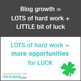 Hard-work-little-luck blog growth