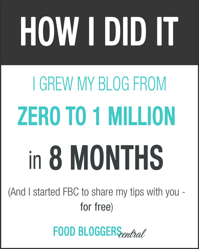 How I grew my food blog from zero to 1 million in 8 months (by myself, organically)