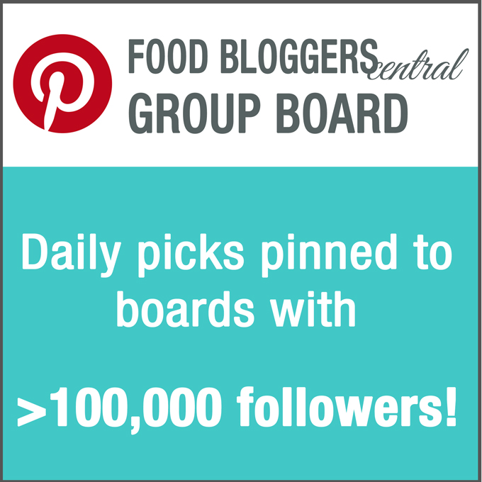 Join Food Bloggers Central Group Pinterest Board