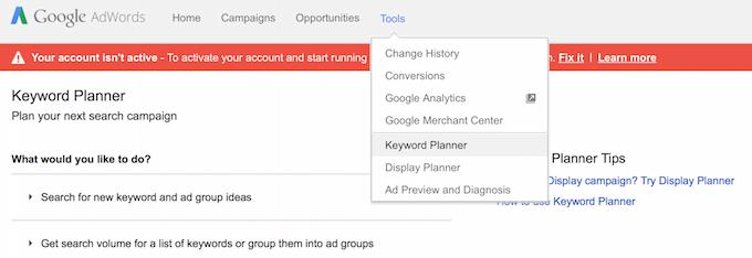 Google Keywords 1