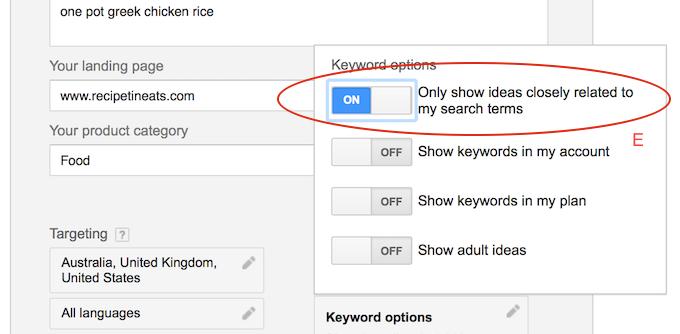 Google Keywords 3
