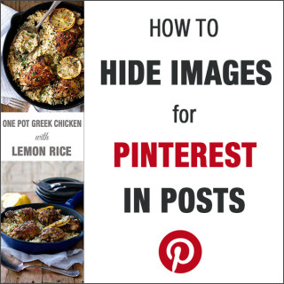 How to hide long images for Pinterest in blog posts