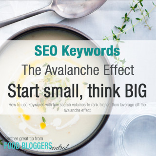 SEO Keywords: Why you should choose less searched keywords for your recipes | Another great tip from Food Bloggers Central | A FREE resource food bloggers