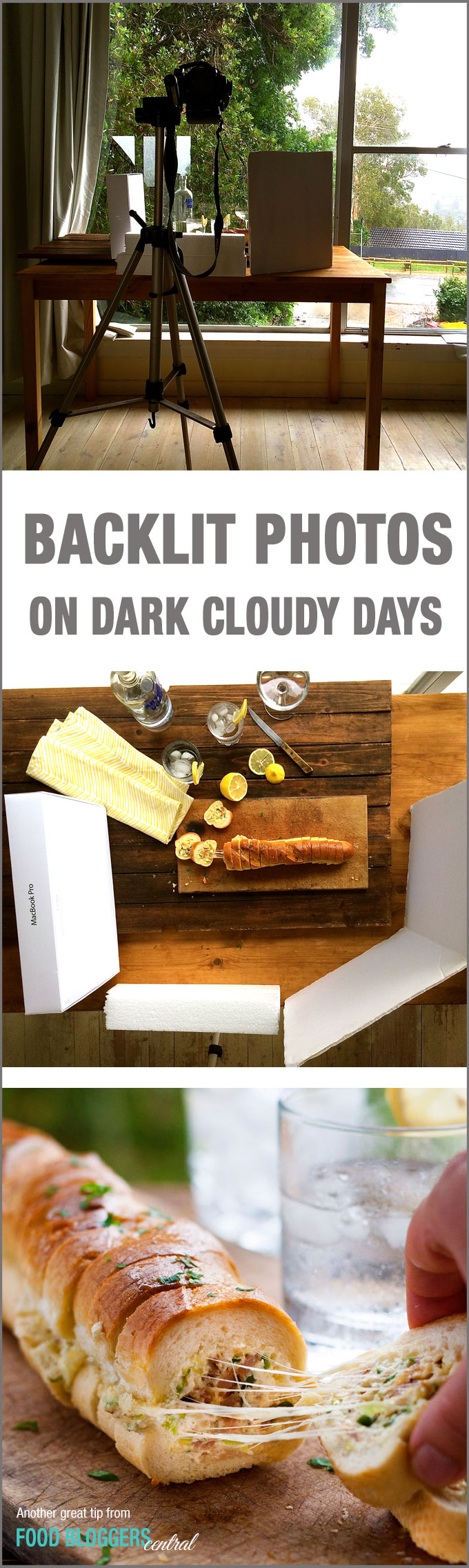 How to take food photos in low lighting / dark cloudy days