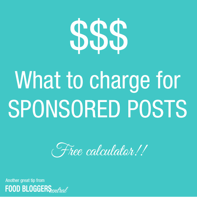 How to calculate what to charge for sponsored posts. Free calculator!!