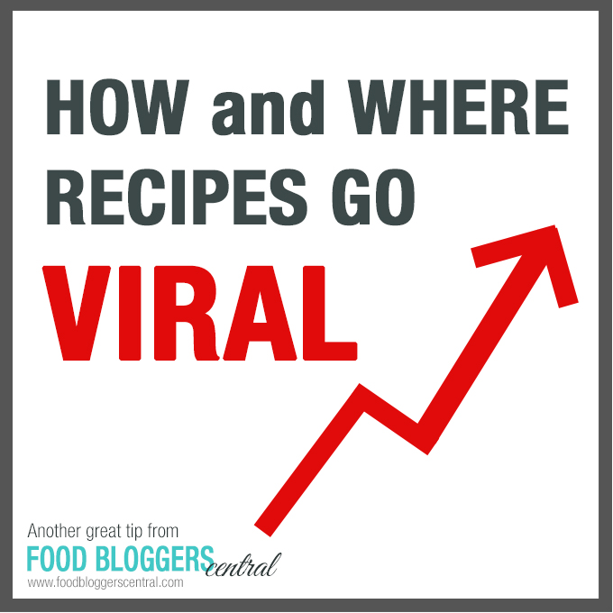 How and where recipes go Viral | Another great tip from Food Bloggers Central