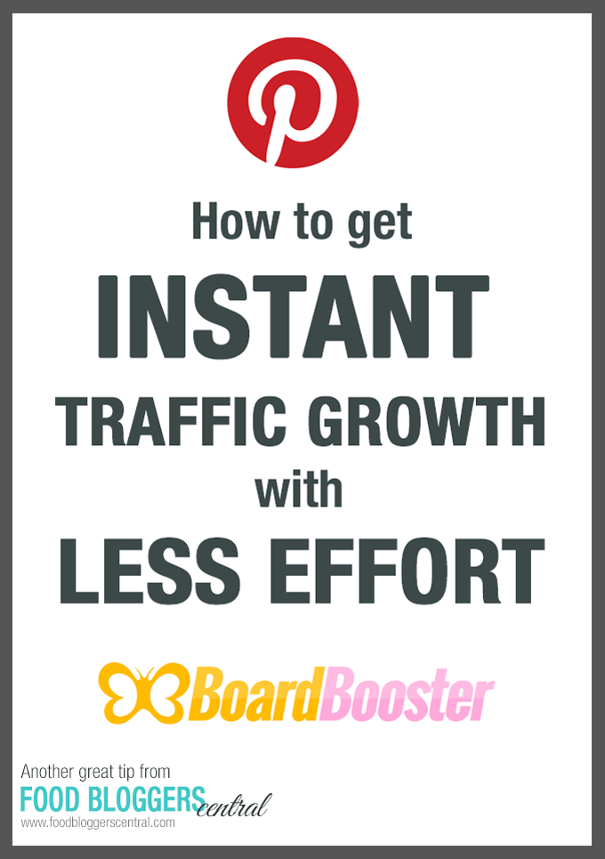 How to Instantly Grow Traffic with Less Effort | Another great tip from Food Bloggers Central