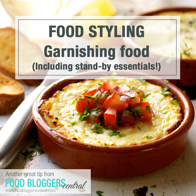 Garnishing Tips for Food Bloggers - including essential stand by garnishes you can have on hand at all times!