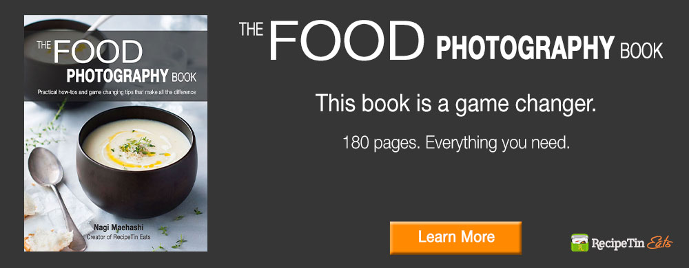 The Food Photography Book by Nagi from RecipeTin Eats