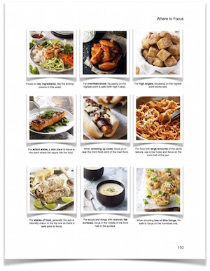 Where to Focus Guide from The Food Photography Book by RecipeTin Eats