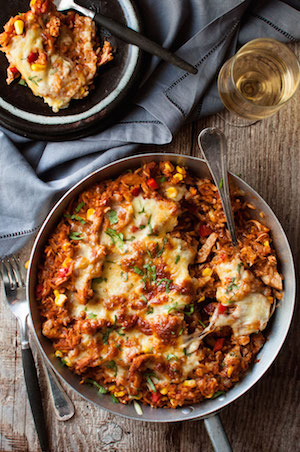 Mexican-Chicken-Enchilada-Rice-Casserole