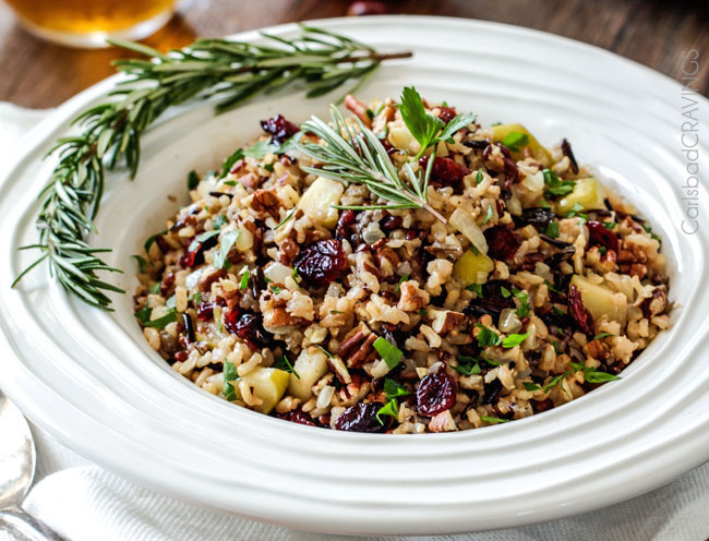 Jen's Cranberry Apple Pecan Wild Rice Pilaf