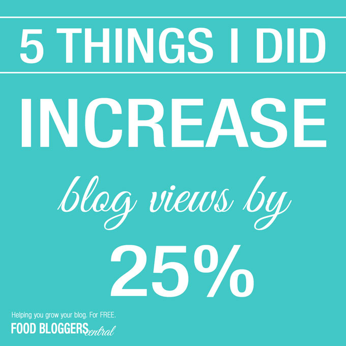 5 Things I Did To Increase Blog Views by 25% Almost Overnight