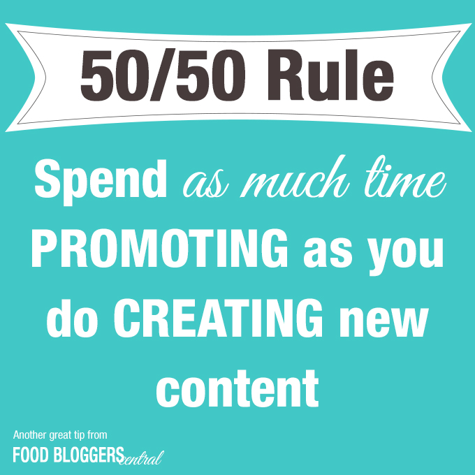 50 50 Rule_Spend as much time promoting as creating