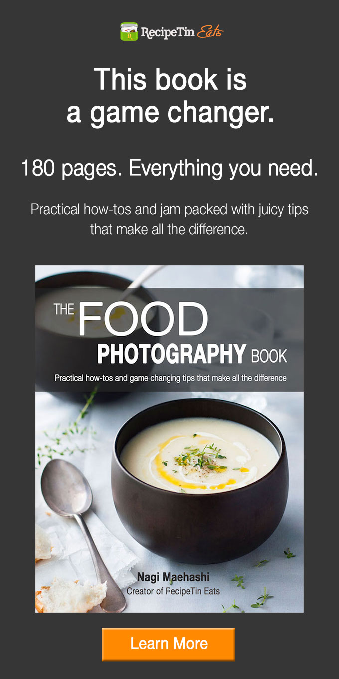The Food Photography Book | A book by Nagi from RecipeTin Eats