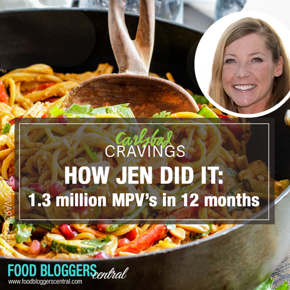 Jen from Carlsbad Cravings shares her amazing life story and how she grew her food blog to 1.3 million monthly views in just 12 months | Food Bloggers Central